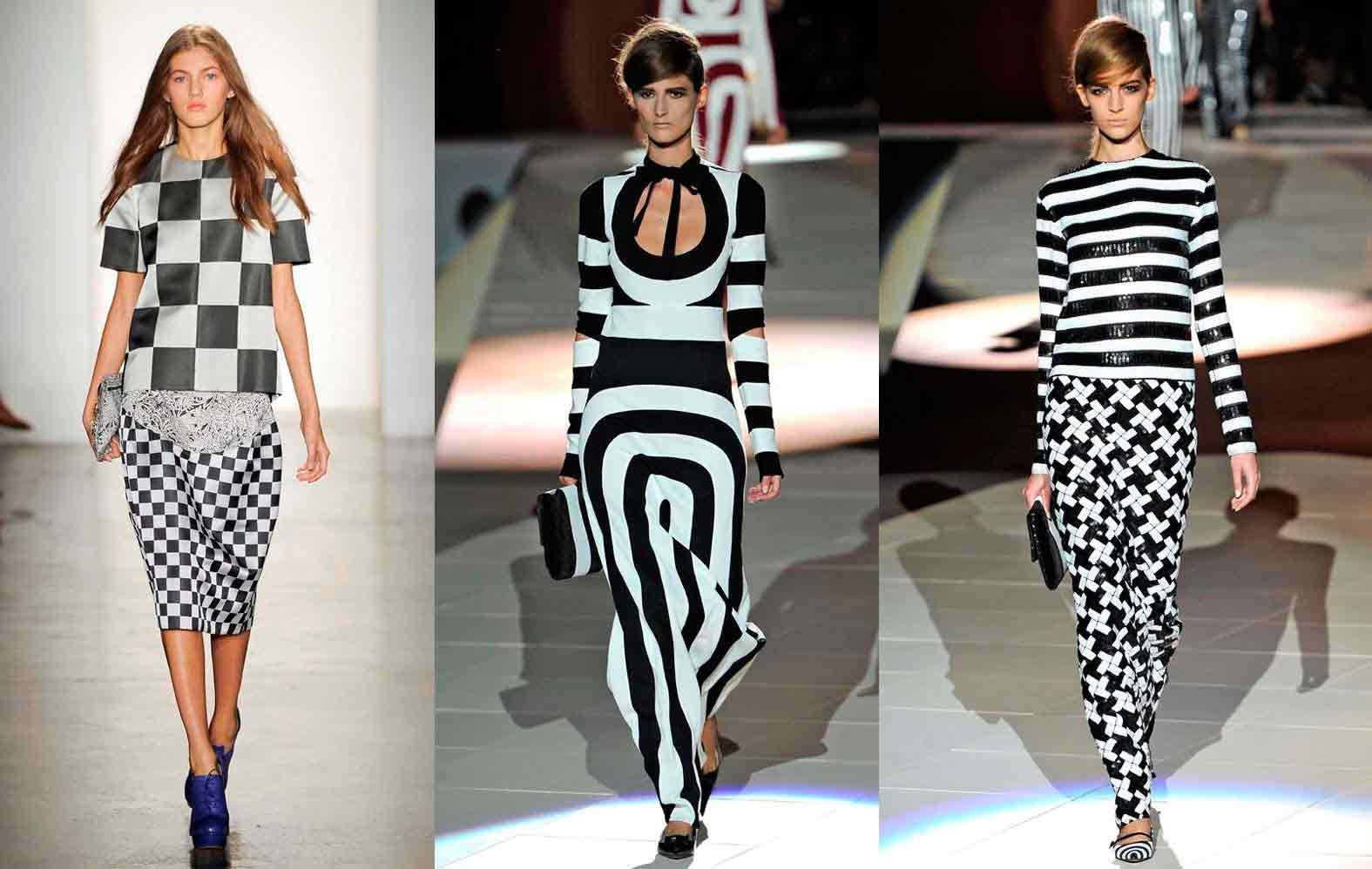 Optical illusions in fashion