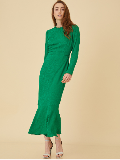 Screenshot_2019-03-07 Etek Ucu Volanlı Formlu Elbise Yeşil B9 23082 Kayra Online